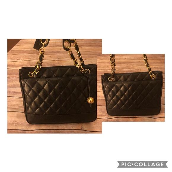 f8c93482180e CHANEL Bags | Quilted Matelasse Caviar Skin Tote Bag | Poshmark